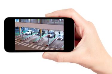 צפייה במצלמות אבטחה דרך הסמארטפון